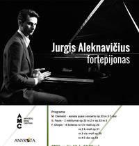 concert of pianist Jurgis Aleknavičius