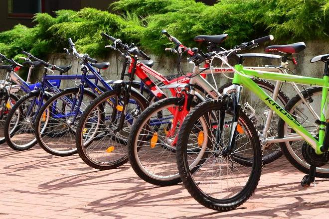 """Bicycle rental in the sports and leisure center """"NYKŠČIO NAMAI"""""""